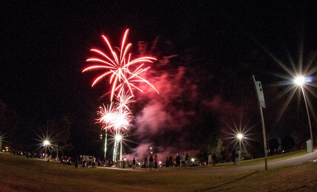 NYE Fireworks in Shepparton