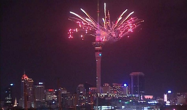 NYE FIreworks at Sky Tower